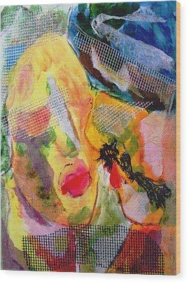Wood Print featuring the painting Love Is Blind by Alexandra Jordankova