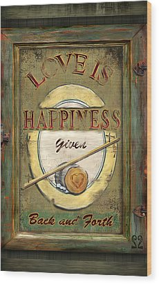 Love Is Happiness Wood Print