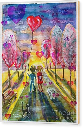 Love Is In The Air 2 Wood Print