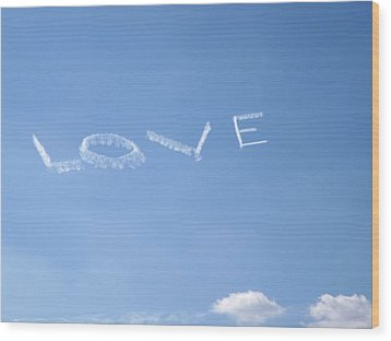 Wood Print featuring the photograph Love Is In The Air by Jodi Terracina