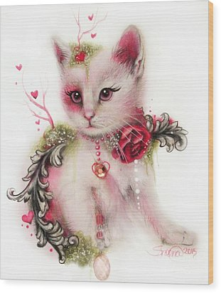 Love Is In The Air Wood Print by Sheena Pike