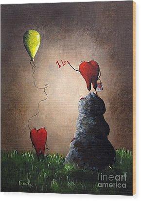 Love Is Playful By Shawna Erback Wood Print by Shawna Erback
