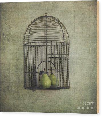 Love Is The Key Wood Print by Priska Wettstein