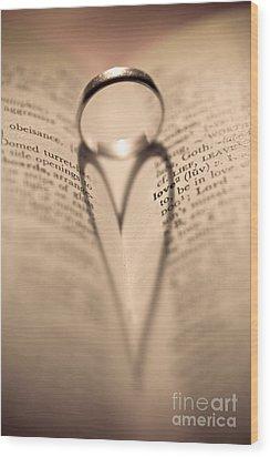Love Wood Print by Jan Bickerton
