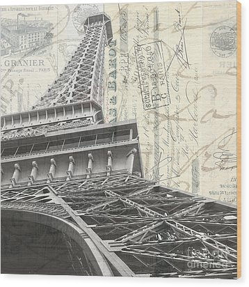 Love Letter From Paris Square Wood Print by Edward Fielding