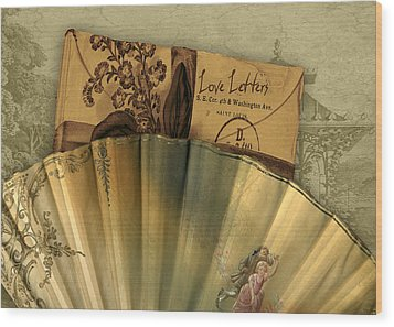 Love Letters Wood Print by Sarah Vernon