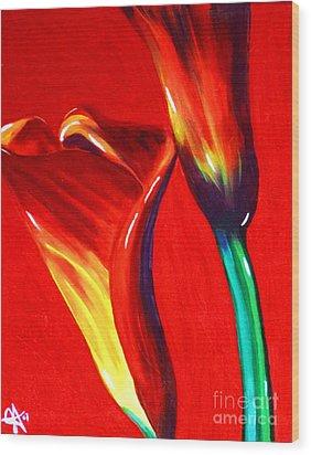 Love Lilies Wood Print by Jackie Carpenter