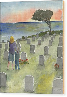 Love Lost By A Setting Sun Wood Print