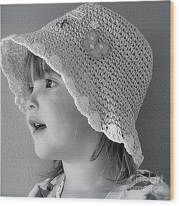 Wood Print featuring the photograph Love My Hat by Barbara Dudley