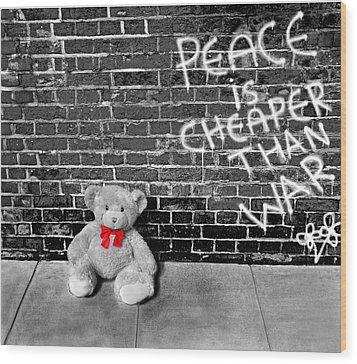 Love Not War Wood Print