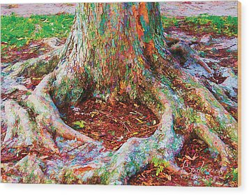 Love Of Trees Wood Print by Robin Lewis