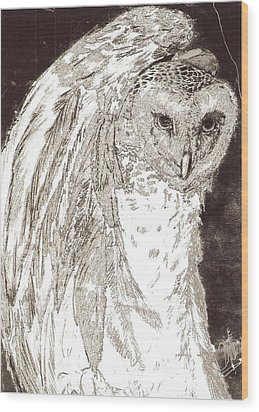 Love Owl Wood Print by George Harrison