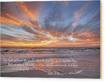 Love Personified Wood Print by HH Photography of Florida