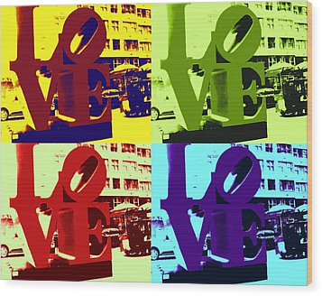 Wood Print featuring the digital art Love Pop Art by J Anthony