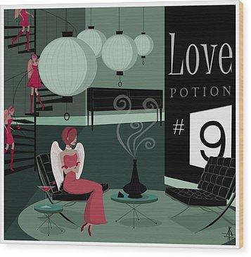 Love Potion No9 Wood Print by Kate Paulos