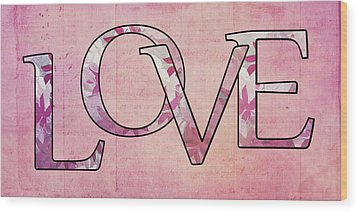Love - S0102t Wood Print by Variance Collections