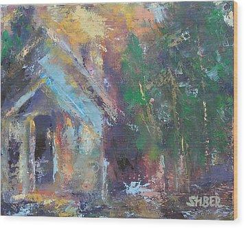 Love Shack Wood Print by Kathy Stiber