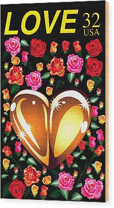 Love Stamp Wood Print