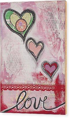 Wood Print featuring the mixed media Love  by Stanka Vukelic