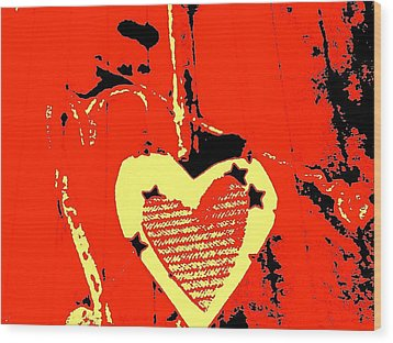 Love-star Wood Print by Dorothy Rafferty