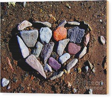 Love Stones Wood Print by Janice Westerberg