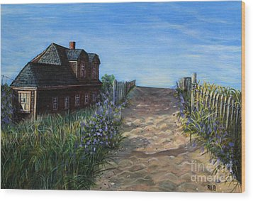 Wood Print featuring the painting Love The Old Cottage by Rita Brown