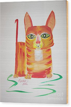 Love Those Orange Tabbies Wood Print