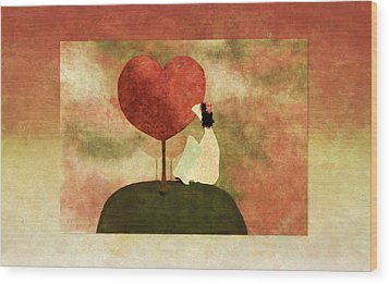 Love Tree -01b Wood Print by Variance Collections