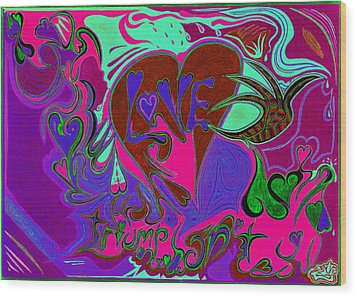 Love Triumphant 3of3 V2 Wood Print by Kenneth James