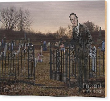Lovecraft Wood Print by Tom Straub