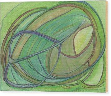 Loveliness Arises Wood Print by Kelly K H B