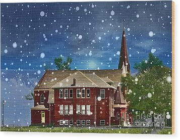 Wood Print featuring the photograph Lovely Country Church by Liane Wright