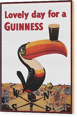 Lovely Day For A Guinness Wood Print