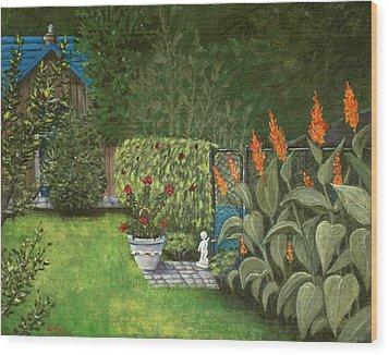Lovely Green Wood Print by Anastasiya Malakhova
