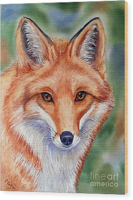 Lovely Lady Wood Print by Patricia Pushaw