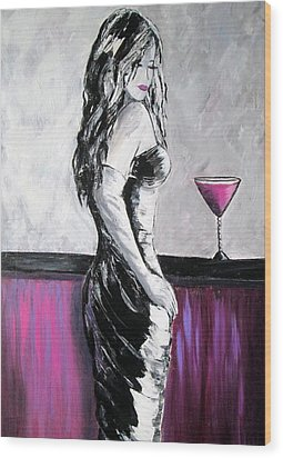 Lovely Lady Wood Print