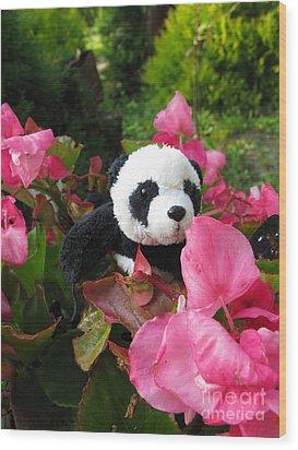 Wood Print featuring the photograph Lovely Pink Flower by Ausra Huntington nee Paulauskaite