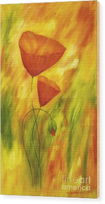 Lovely Poppies Wood Print by Veikko Suikkanen