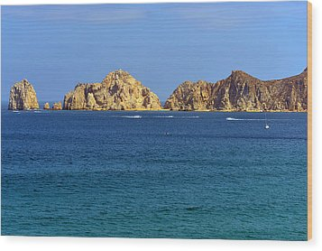 Wood Print featuring the photograph Lovers Beach Cabo by Christine Till