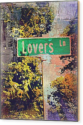 Lovers Lane Wood Print