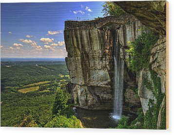 Lover's Leap Wood Print by Greg and Chrystal Mimbs