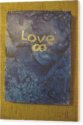 Loves Blue Mood Wood Print by Lawrence Christopher