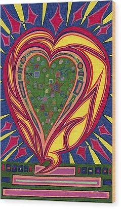 Love's Brilliance Illuminated Wood Print