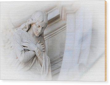 Loving Angel Wood Print by Kathleen Struckle