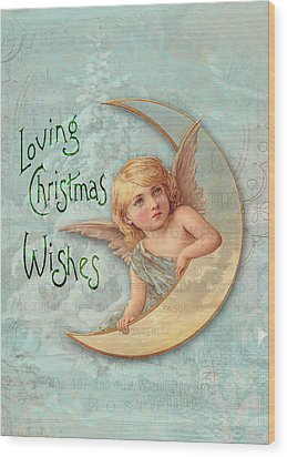Loving Angel Wishes Wood Print by Sarah Vernon