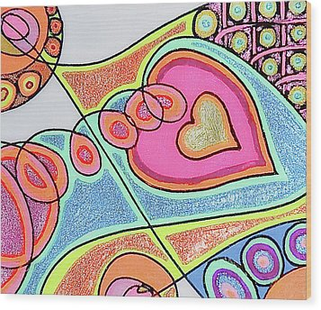 Loving Heart Connection Wood Print by Sheree Kennedy