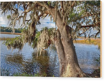 Low Country Creek Wood Print