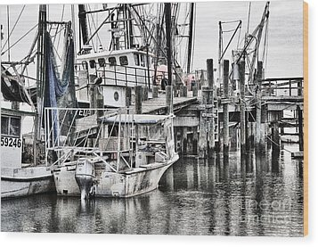Low Country Small Craft Wood Print by Scott Hansen