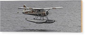Low Flying Plane 003 Wood Print by Timothy Latta