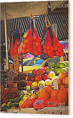 Low-hanging Fruit Wood Print by Miriam Danar